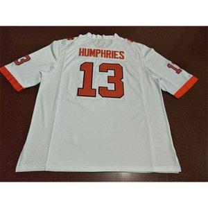 3740 Clemsson Tigers # 13 Adam Humphries Arancione Bianco college Jersey o personalizzato Qualsiasi nome o Numero Jersey