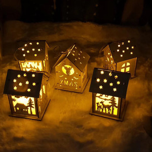 Graduation season gift Christmas tree night light house pendant Christmas House Nightlight hanging decoration students