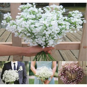 (60 pcs lot) new arrival fabric gypsophila baby breath artificial silk flowers for decor wedding decoration