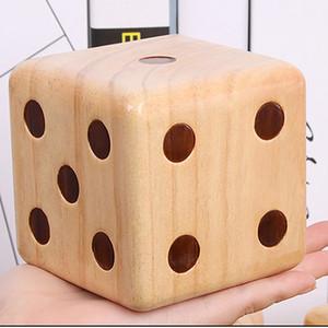 Gigante de madeira Tamanho Dice para o partido Piqueniques Table Games Big Wood Dice Adultos Childen Crianças que jogam dados Bloco Toys 9x9x9cm 1 / 2pc