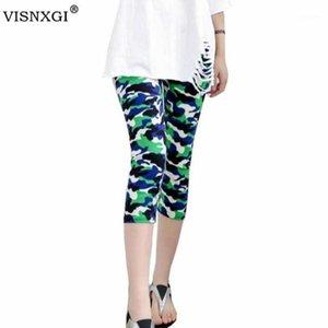 Visnxgi nouvelle mode 2020 camouflage impression d'élasticité leggings étirés pantalons élastiques femmes cultivées floral impression leggings1
