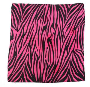 Fashion Bandana Biker Korean Cotton Scarf Women's Zebra Striped Scarves Spring Wild Thin Silk Leopard Print Shawls for Veiled Bandana 0961