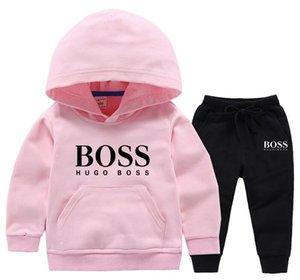 2020 New Spring Autumn Children Clothes Baby Boys Girls Cartoon T Shirt Pants 2Pcs sets Kids Infant Clothing Toddler Tracksuit
