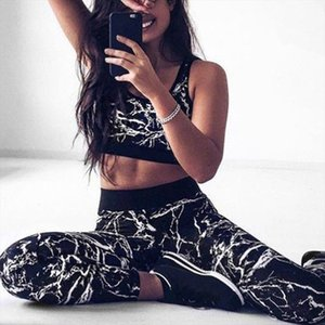Printed Breathable Sets Sexy Women Sportswear Halter Bra amp; Leggings Tight Fitness Sports Tracksuit for Women BD