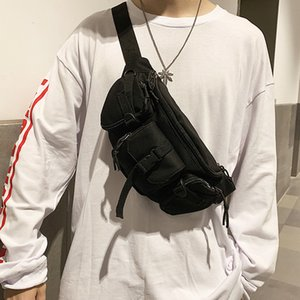 Мода Унисекс Сумки Trend Сундук Нейлон Водонепроницаемый Крестовой Сумка Многофункциональная Талия Мужская Поясная Пакет Q1221