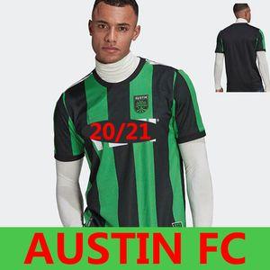 2XL Austin FC Futbol Formaları 2021 2022 Yeni Açılış Mls Kalın Ev Siyah Yeşil Dario Conca Kleber Xavier Baez Erkekler Kitleri Futbol Gömlek Unifo