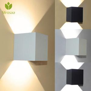 MrSaa AC 220V IP65 À Prova D 'Água 7W Alumínio Cubo Cube LED Lâmpada de Parede Luz Modern Home Iluminação Decoração Ao Ar Livre Luz