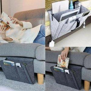 Creative Felt Hanging Storage Bag Bedside Sofa Organizer Bed Holder Pockets