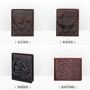 VrcD JOYIR New mens card case Leather Business Men's Wallet Cowhide wallet Men Wallets Vintage Short Wallet Genuine Coin Purse