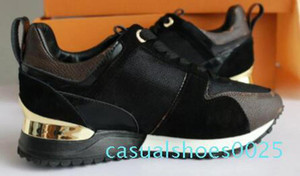 2018 NEUE Ankunft Luxus grüne Farbe Freizeitschuh Frauen Designer Turnschuhe Männer Schuhe echte Leder Mode Mischfarbe keine original box c25