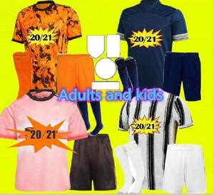 L'ultima maglia da calcio per adulti e bambini della Juventus 4th 4th maglia da calcio HRFC RONALDO DE LIGT 20 21 DYBALA 2020 2021 top Men Kids kit
