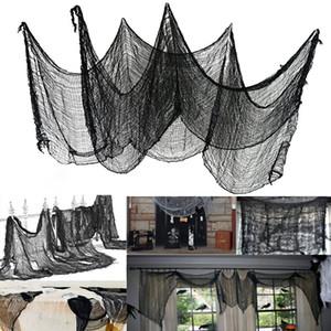 도매 할로윈 장식 거즈 블랙 거즈 바 유령의 집 분위기 장식 의류 옷장 테러 거즈 컷 packag 수 있습니다 넝마