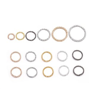 100pcs lot 8 10 15 18 20 Mm Gold Jump Rings Round Twisted Split Rings Connectors For Diy Jewelry Finding Making wmtqKS