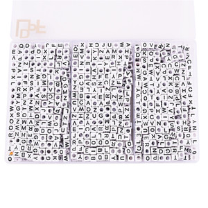 1400pcs Box English Letter Beads for VSCO Girl Accessories DIY Beads Bracelet Jewelry Necklace Making Friendship Gift Y200730