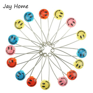Sewing Notions & Tools 50Pcs Safety Pins Cloth Holder Brooch Pin Mixed Color Plastic Head Smile Faces DIY Crafts Stitch Accessories