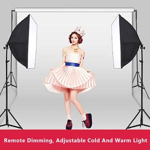 التصوير الفوتوغرافي Softbox إضاءة أطقم 50x70CM المهني المستمر المربع نظام ينة الخفيفة على الجمال استوديو الصور معدات