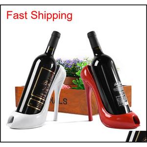 High Heel Shoe Wine Rack Wine Bottle Holder Stylish Rack Gift Basket Accessory Home Kitchen Bar Tools R qyliER bde_luck