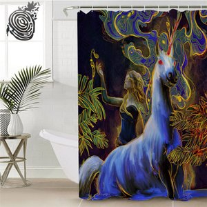 Mimosa Drops by Archan Nair Shower Curtain Unicorn White Horse Waterproof Bathroom Curtain With Hooks Princess tenda doccia Towel
