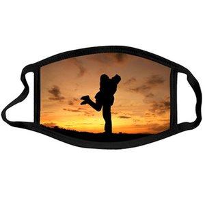 2021 Dia dos Namorados Impressão de máscara lavável Respirável Face Máscara ao ar livre Esporte à prova de vento à prova de poeira de ciclismo Masks Designer 44 m2