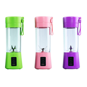 2021 New Electric Juicer Cup Mini Portable USB Rechargeable Juice Blender And High Quality Mixer 6 leaf plastic Juice Making Cup 2000MA