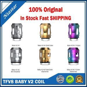 100% original tfv8 baby v2 spulen neue max max mesh ersetzen A1 0,17 ·15 ·15 ·15 ohm s2 0.15 ahm einzelne dreifache spule für tfv8 baby v2 tank