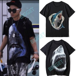 Men Printed Shark T Shirt Hot Sale Fashion Round Neck Short Sleeves Casual Street Tee For Man