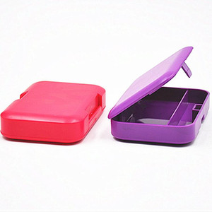 Plastic Rectangle Tobacco Box Cigarette Storage Case for Rolling Paper Smoking Pipe Holder Nice Colors Avaiable PPF4200