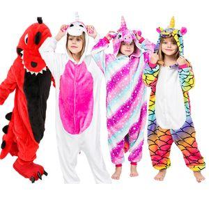 Animal Pigiama Bambino Elefante Onesies ragazzi inverno Flannel Sleepwear neonate Unicorn tuta per bambini Panda Pajama
