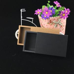 24pcs Lot Blank Kraft Paper Drawer Boxes Black Paperboard Packaging Box Diy Handmade Soap Craft Jewel Party Gift Boxes wmtlel hx_pack