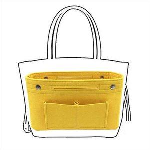 Kadınlar için kozmetik çanta keçe çanta kız makyaj fırça organizatör çantası kadın tuvaletler çanta eklemek multipocket tote büyük