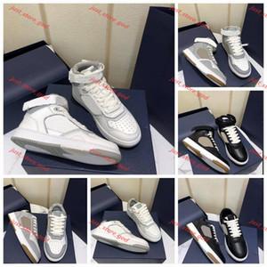 Dior B27 Más nuevos hombres de calidad B2-7 Zapatos ocasionales oblicuos Lin456 Zapatillas de cuero genuinas Mujeres High Top Top Trainers Stylist Shoes Lowtop Laceup