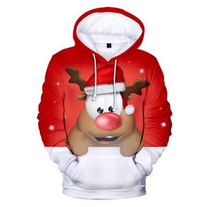 2020 Yeni adam yılbaşı baskı 3d hoodies kostümleri yılbaşı hediyesi çiftler kazak t eşofmanı kapüşonlu kapüşonlu ceket erkek