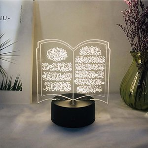 3D Ramadan usb led luzes acrílico mubuk muçulmano mesa mesa de mesa para casa sala de estar sala de estar muçulmano Ramadan party decorações c0125