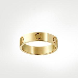 Aşk Vida Yüzük Tasarımcı Yüzükler Klasik Lüks Tasarımcı Takı Kadınlar Altın Yüzükler Titanyum Çelik Altın Kaplama Asla Solma Alerjik Değil