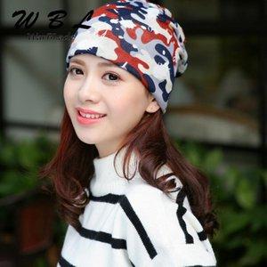 Beanies Warblade Rahat 3 Kullanım Caps Örme Eşarp Kış Şapkaları Kadınlar için Kadın Kamuflaj Hip-Hop Skullies Kızlar Gorros