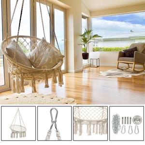 Round hamac balançoire suspendue Chaise d'extérieur Meubles d'intérieur Hamac Chaise pour Jardin Dortoir Enfant Adulte avec les outils 1009