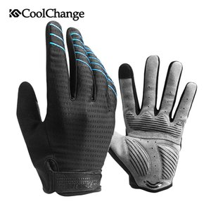 3 colors GEL Pad Full Finger Cycling Gloves Shockproof MTB Bike Gloves Touch Screen Men Women Long Finger Bicycle Glove M-2XL 201020