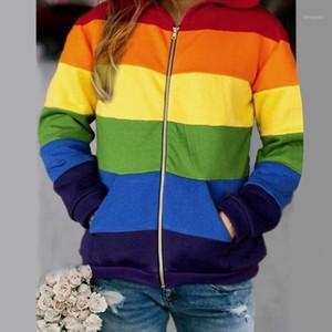 Deportes corriendo chaquetas con capucha mujeres impresión con capucha cremallera de manga larga superior de la camiseta de la camiseta de la camiseta de las mujeres entrenando el abrigo de ejercicio # Z1