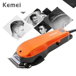 Kemei Professional Hair Clipper Powerful Stainless Steel Blade Length Adjustment Wired Electric Trimmer Hair Cutting Machine 45G1