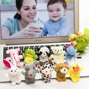 1000pcs lot DHL Fedex EMS Free Shipping Cute Cartoon Biological Animal Finger Puppet Plush Toys Child Baby Favor Dolls PNLO