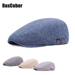 RoxCober New Cotton Gatsby Cap Herren Damen Ivy Hut Golf Driving Sommer Wohnung Cabbie Mode Ballon- Cap Verstellbare Berets