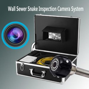7'' LCD Wall Snake Pipeline Sewer Endoscope Industrial Camera 20M Cable 23MM Lens Drain Pipe Clean Inspection IP68 Waterproof