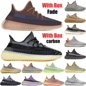 New Kanye West V2 reflexivo Fade Fade Carbon Natural Israfil Cinder Earth Zyon Oreo Desert Sage Marsh Mens Running Zapatos Mujeres Entrenadores Zapatillas de deporte