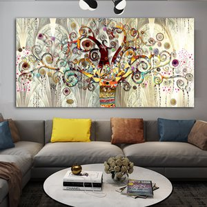 Tree of life Gustav Klimt Landscape Wall Art Canvas Scandinavian Poster Print Modern Wall Art Picture for Living Room
