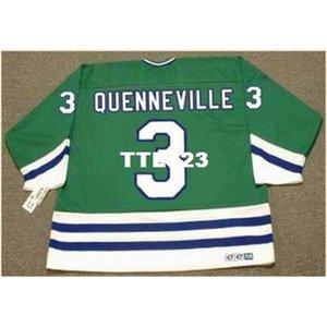 421S # 3 Joel Quenneville Hartford Whalers 1988 CCM Vintage Home Hockey Jersey o personalizado Cualquier nombre o número Jersey Retro