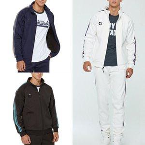 Homens Tracksuit 2 Pcs Fleece Casual Sportwear Zipper Hoddies + Calças Duas Peças Jogging Bottoms Sport Conjunto Eletográfico Outfits Homens