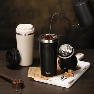 Macchina del caffettiera del gemma elettrica portatile portatile del caffè della famiglia Grinder Integrato Isolamento della tazza del punzone