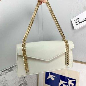 Малый CK сумка коренастых цепей Ручки мини сумка сумка подмышки женщины известной марка Большого размер Plain кожа плечо Женщина Пряжка Багет Сумка
