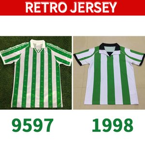 Real Betis 95 97 98 Jerseys de football rétro 1995 Match de Bettis Real Worn Menendeez Finidi 25 Rios 21 Finidi 11 Football Jerseys Maillot de pied