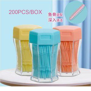 200pcs box Double-head Toothpicks Interdental Brushes Teeth Cleaning Brush Sticks Dental Floss Pick Toothpick Oral Hygi sqctLN